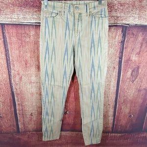 Loft watercolor skinny ankle jeans